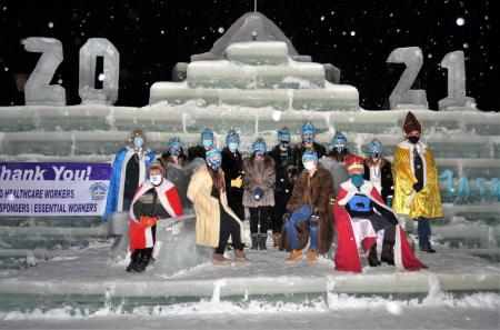 2021 Winter Carnival Court on the Throne