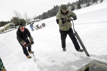 Ice Palace sawing