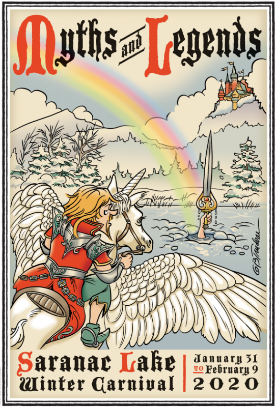 2020 Saranac Lake Winter Carnival Poster